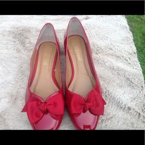 J Renee Red cameo patent leather